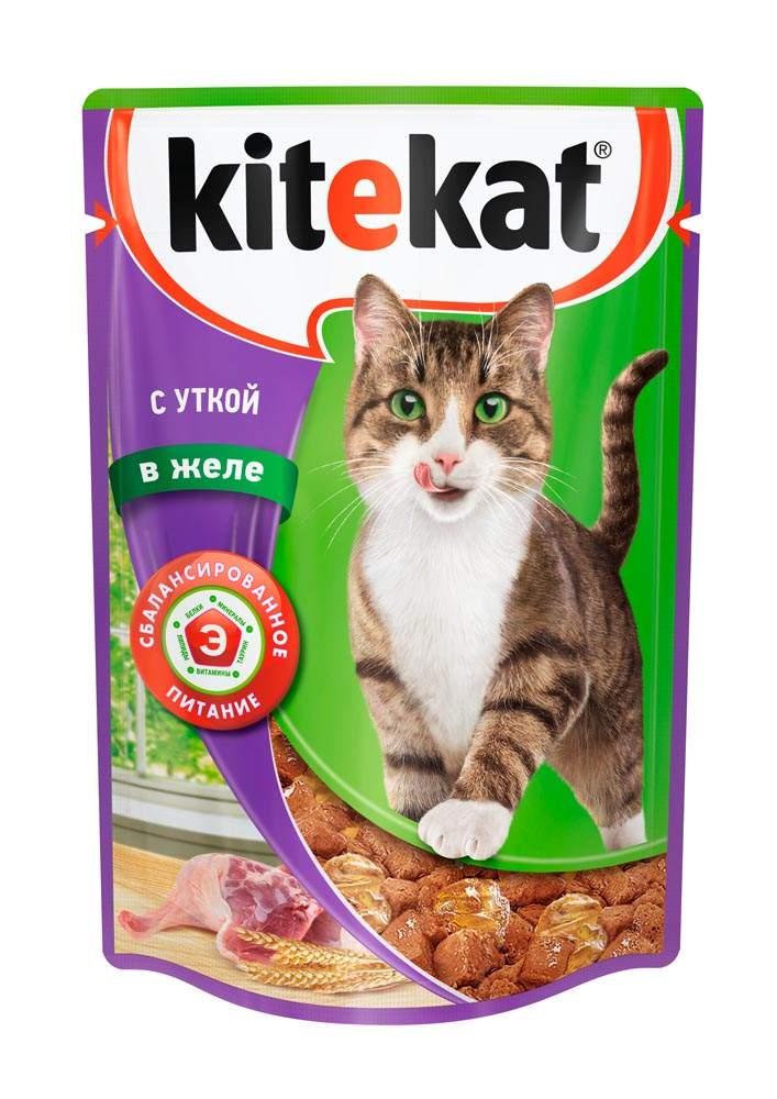 Влажный корм для кошек Kitekat для взрослых кошек, утка,  85г