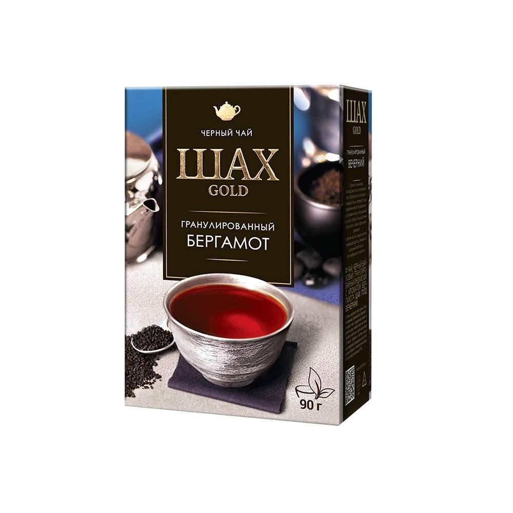 Чай черный листовой Шах Gold Бергамот 90 г