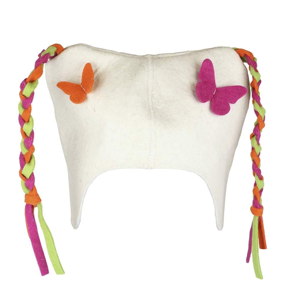 Детская шапочка для бани Бабочки Rusher дш001