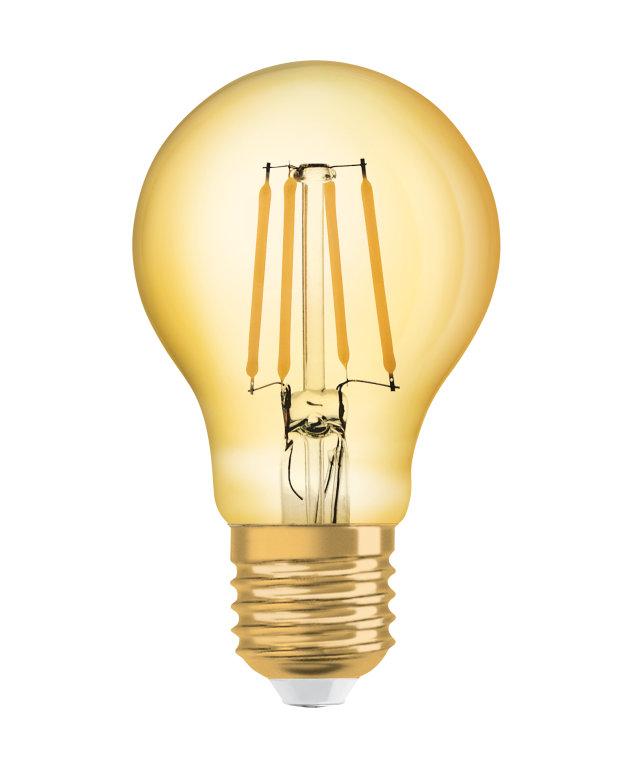 Миниатюра Набор светодиодных ламп OSRAM Vintage 1906 LED CL A FIL GOLD 63 non-dim4 штуки №1