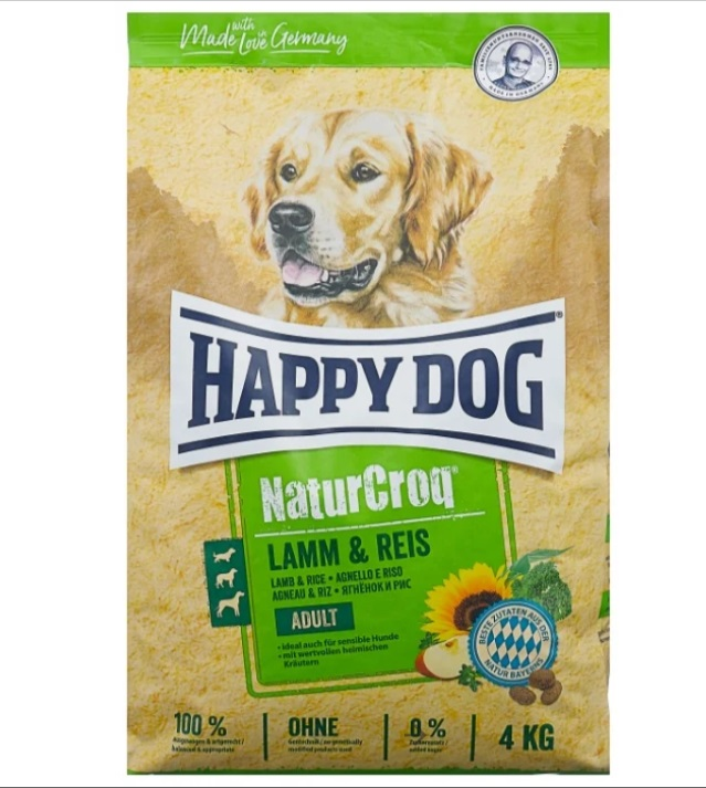 Миниатюра Сухой корм для собак Happy Dog NatureCroq Adult, ягненок, рис, 15кг №2