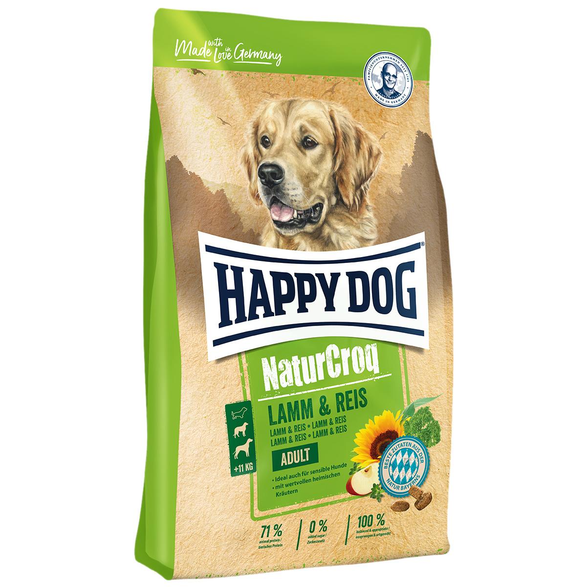 Миниатюра Сухой корм для собак Happy Dog NatureCroq Adult, ягненок, рис, 15кг №1