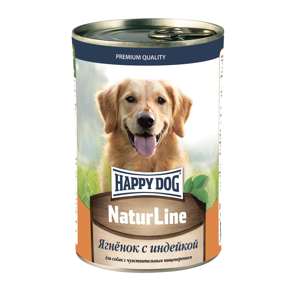 Фотография Консервы для собак Happy Dog Natur Line, индейка, 410г №1