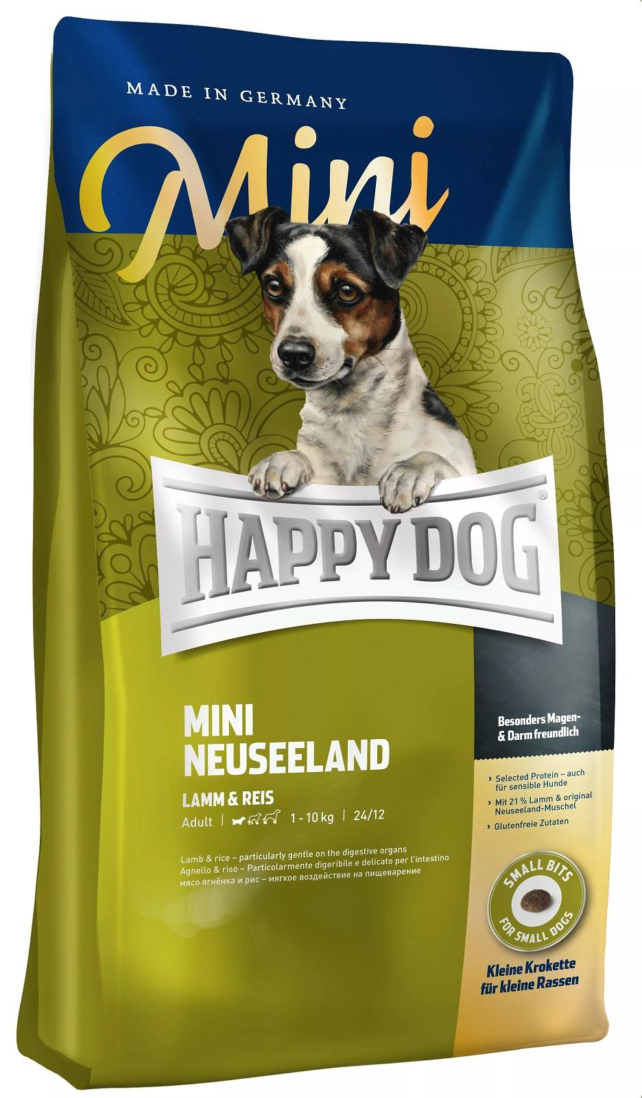 Миниатюра Сухой корм для собак Happy Dog Supreme Mini Neuseeland, для мелких пород, ягненок, рис,4кг №1