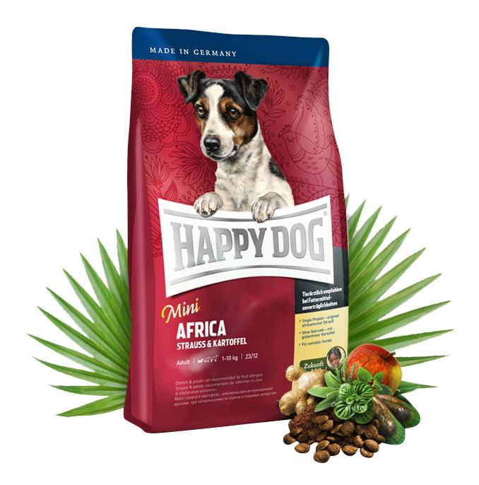 Миниатюра Сухой корм для собак Happy Dog Supreme Mini Africa, для мелких пород, страус,картофель,4кг №2