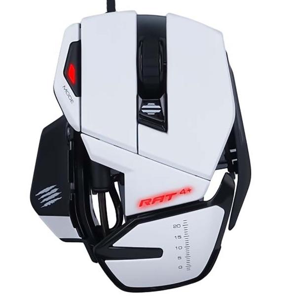 Игровая мышь Mad Catz  R.A.T. 4+ White