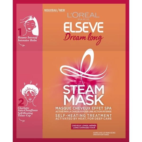 """Фотография Паровая маска L'Oreal """"Elseve Длина Мечты"""", интенсивное восстановление с кератином, 1 шт №1"""