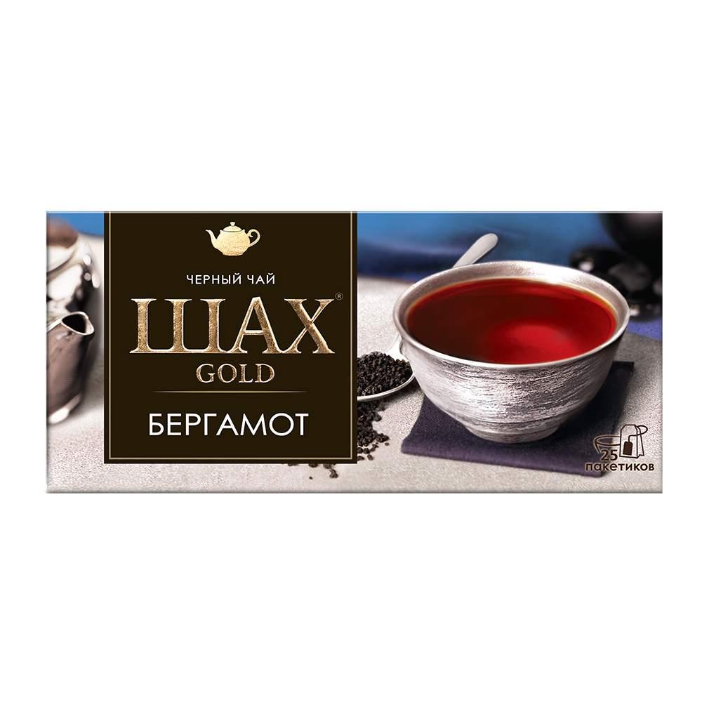Чай черный Шах Gold Бергамот 25 пакетиков