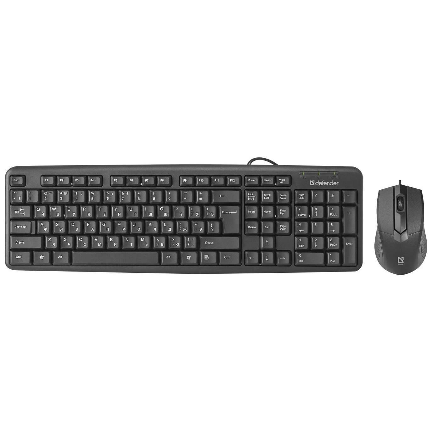 Комплект проводной клавиатура и мышь Defender Dacota C-270