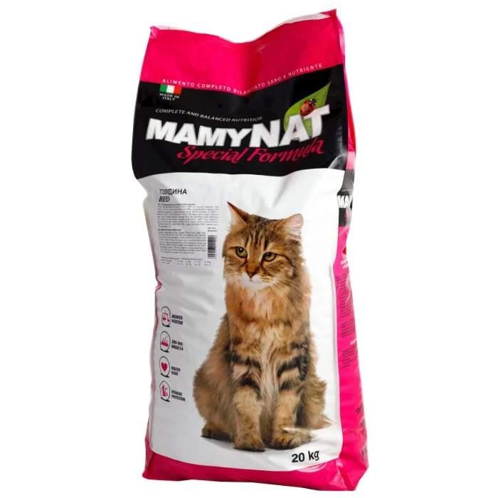 Сухой корм для кошек MamyNAT Cat Adult для взрослых, говядина, 20кг