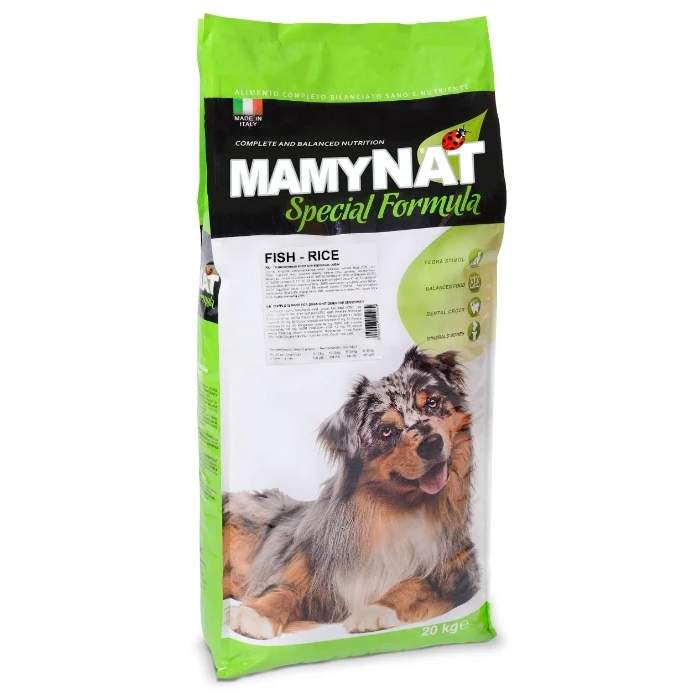 Сухой корм для собак MamyNAT Fish and Rice, рыба, курица, говядина,  20кг