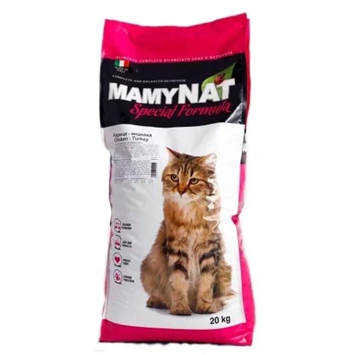 Сухой корм для кошек MamyNAT Cat Adult для взрослых кошек, индейка, курица,  20кг