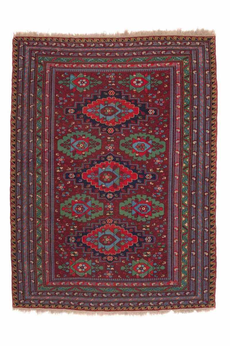 Антикварный Азербайджанский Ковер Сумах №5 (Зеленый)