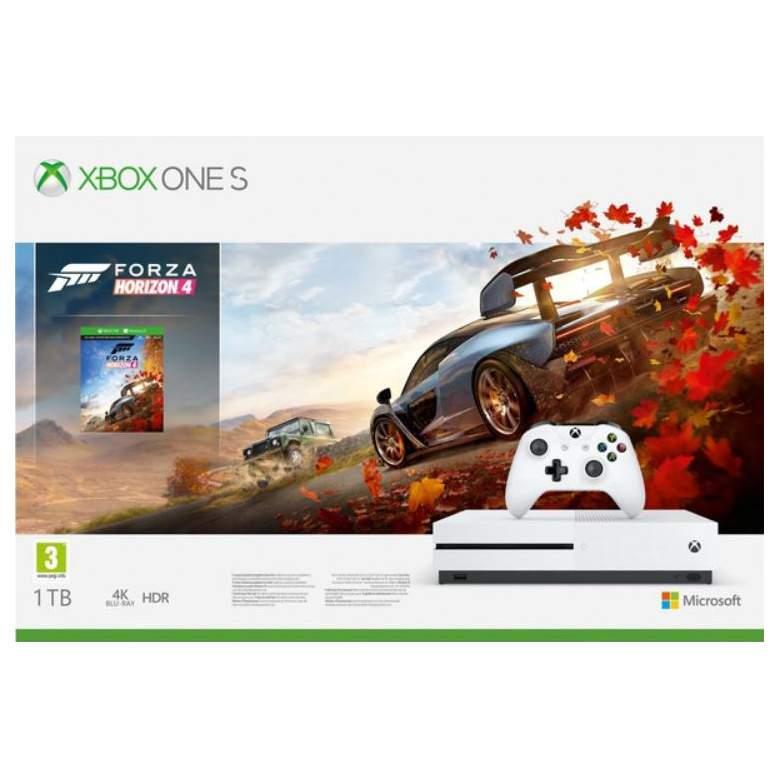 Игровая приставка Microsoft Xbox One S 1Tb White + Игра Forza Horizon 4