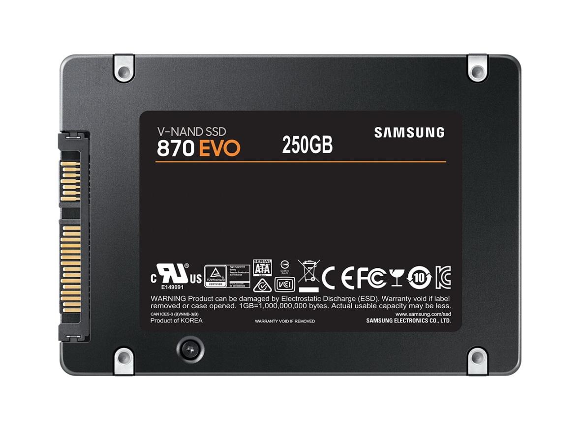 Миниатюра Внутренний SSD накопитель Samsung 870 EVO 250GB (MZ-77E250BW) №2
