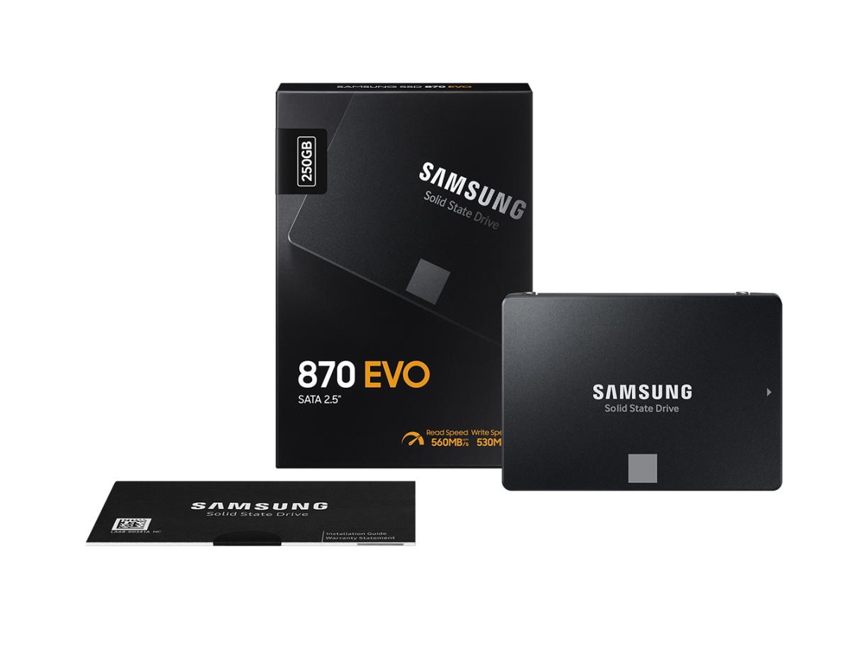 Миниатюра Внутренний SSD накопитель Samsung 870 EVO 250GB (MZ-77E250BW) №9