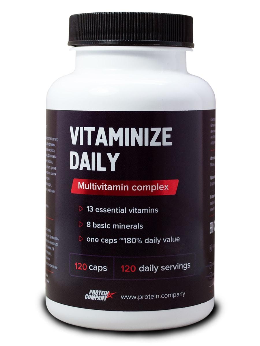 Фотография Витаминно-минеральный комплекс Protein.Company Vitaminize Daily 120 капсул №1