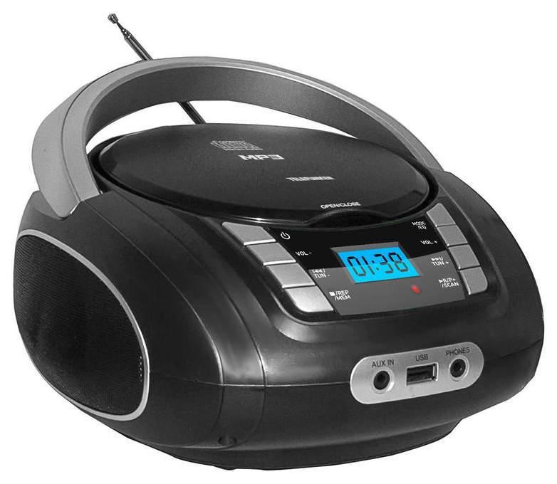 Магнитола Telefunken TF-CSRP3448 Black