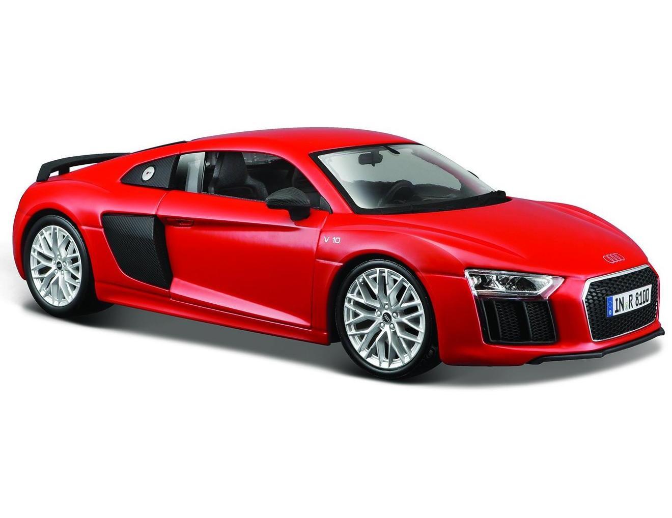 Машина Maisto Audi R8 V10 Plus 1:24, красная