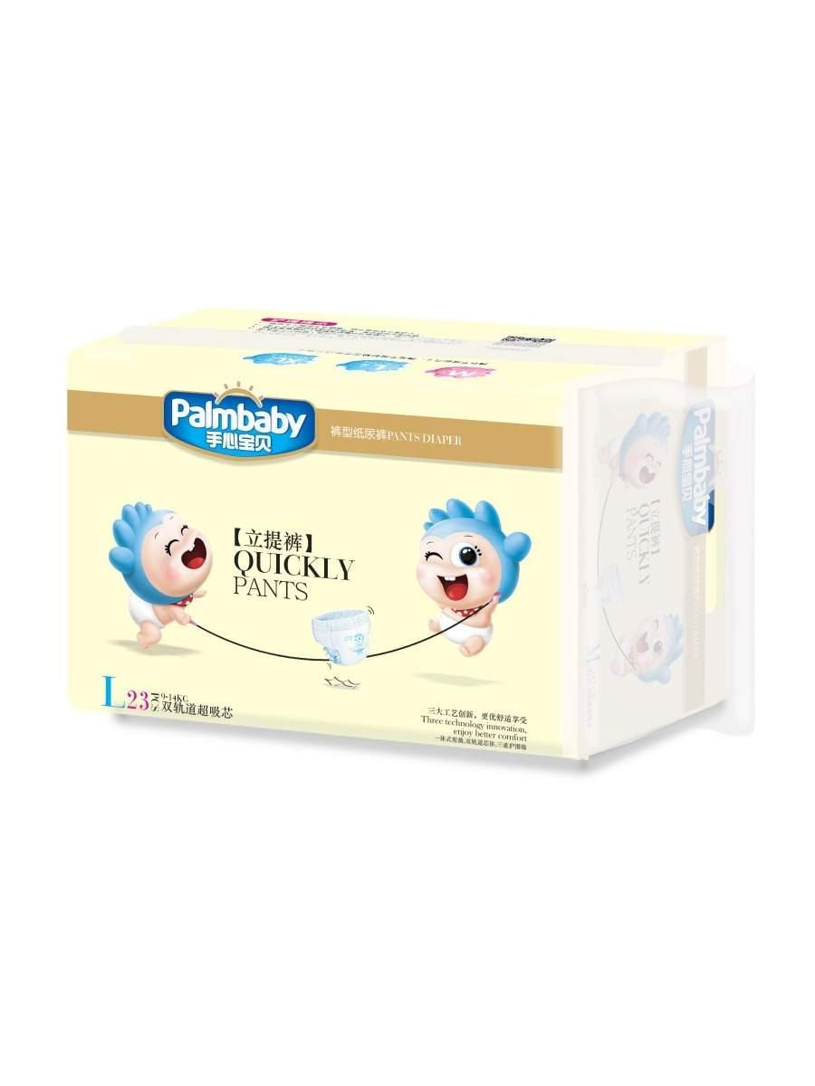 Подгузники-трусики детские Palmbaby Традиционные - L (9-14 кг), 23 шт