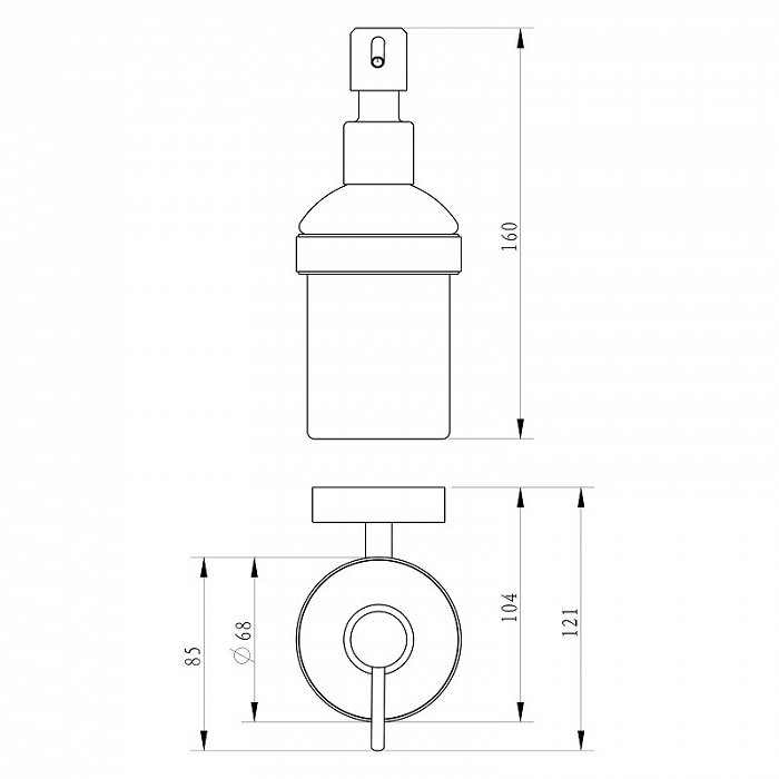 Дозатор для жидкого мыла Milardo Solomon SOLSMG0M46