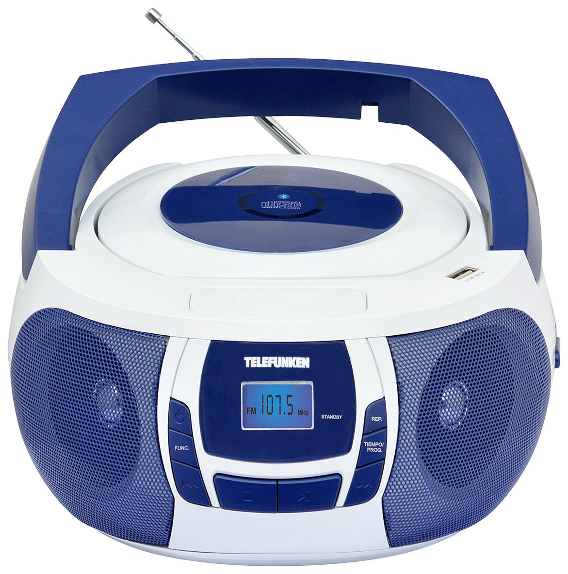Магнитола Telefunken TF-CSRP3498B Blue/White