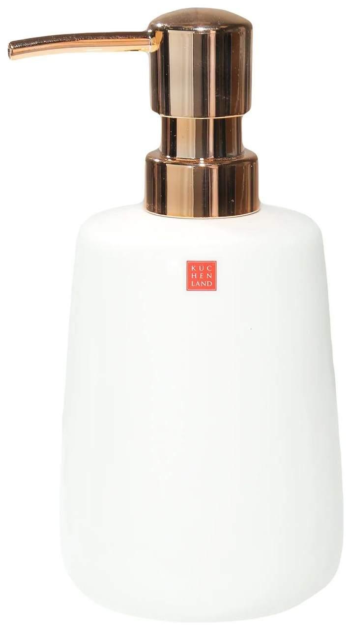 Диспенсер для жидкого мыла Kuchenland Home Shower Olive MBC1455.W/RG 200 мл Керамика