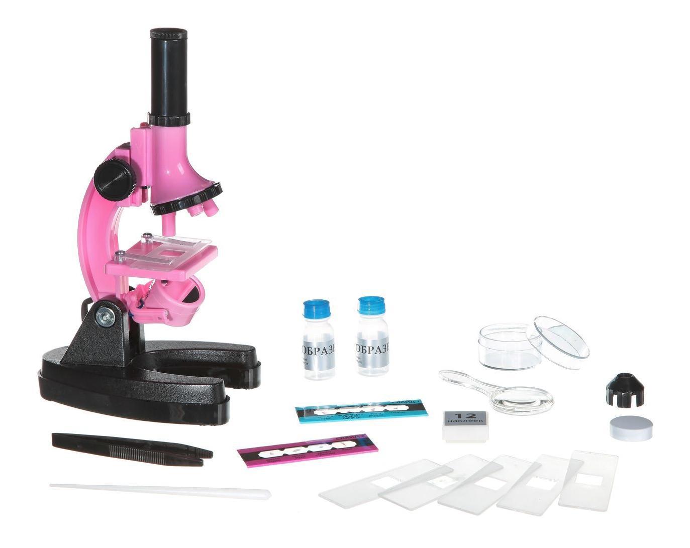 Французские опыты науки с буки Bondibon микроскоп