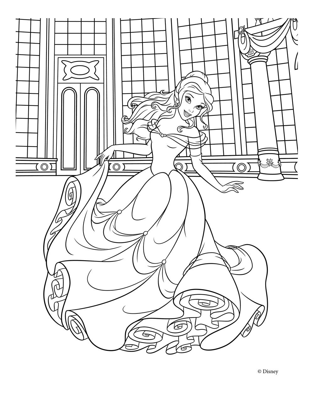 Раскраски Принцессы Диснея Распечатать