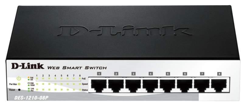 Коммутатор D-Link WebSmart DES-1210-08P/C1A/C2A Black