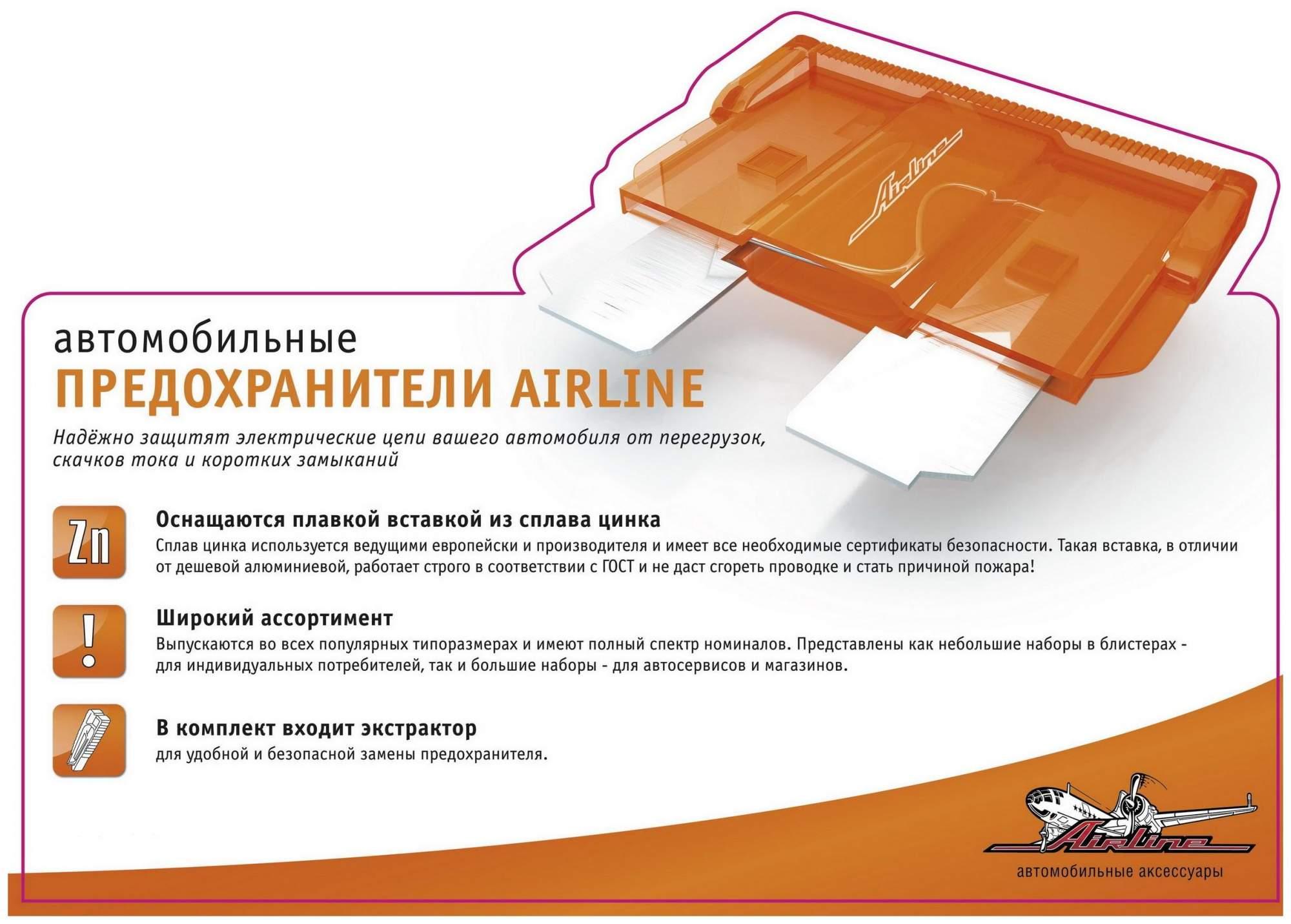 Набор автомобильных предохранителей Airline AFU-SL-05 AFU-SL-05