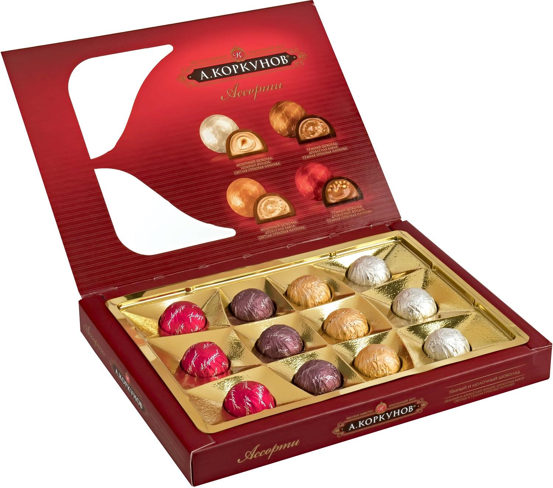 Миниатюра Набор конфет Коркунов ассорти темный и молочный шоколад 110 г №2