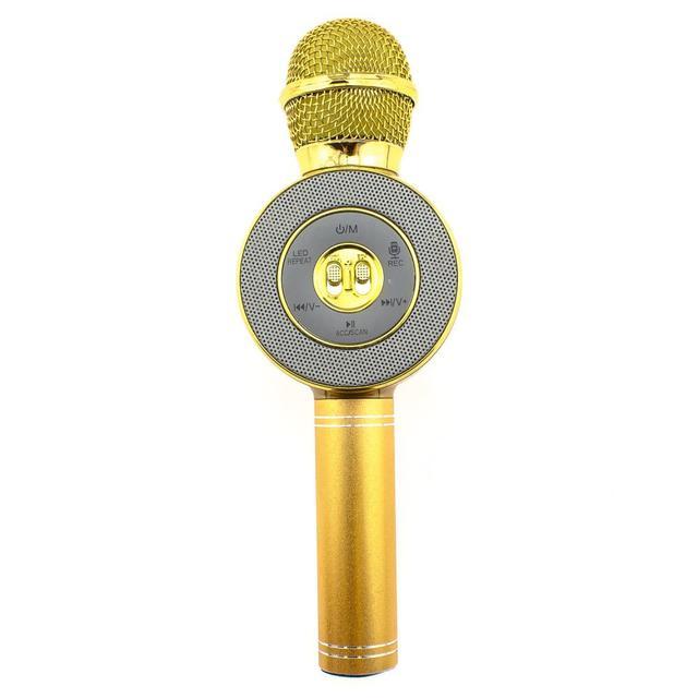 Беспроводной караоке-микрофон WS-668 Gold