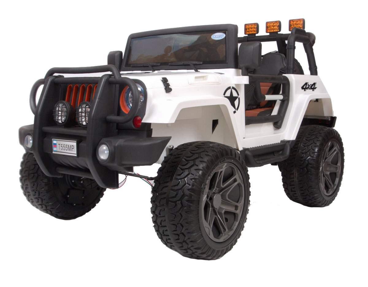 Детский электромобиль Barty Jeep Wrangler Т555МР полный привод (4х4), Белый
