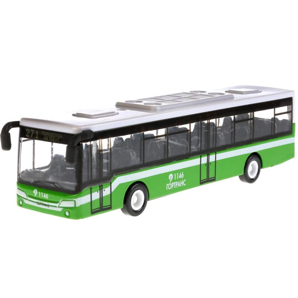 Машинка металлическая Технопарк Автобус инерционная 14.5 см