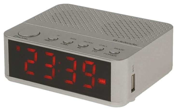 Радиоприемник часы колонка Defender Enjoy M800 Серебристый