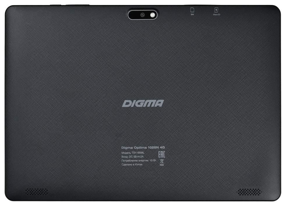 Планшет Digma Optima 1025N 4G Black (TS1190ML)