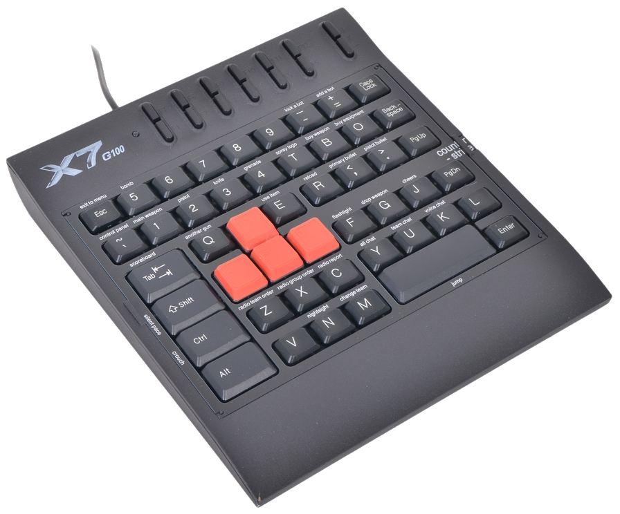 Игровая клавиатура A4Tech X7-G100 Black