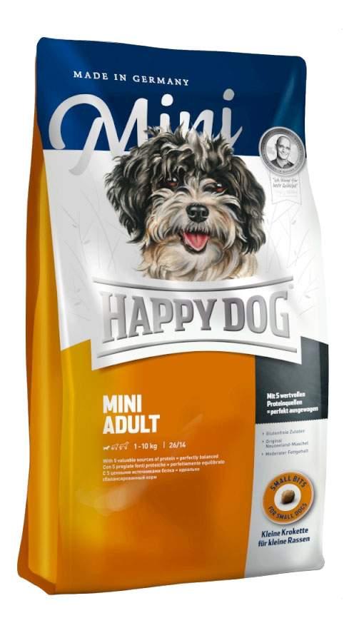 Сухой корм для собак Happy Dog Supreme Mini Adult, для мелких пород, домашняя птица, 4кг