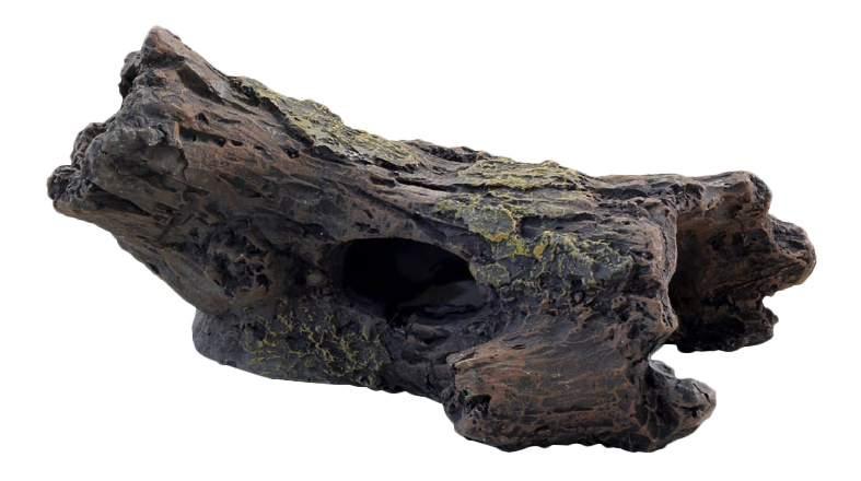 Грот для аквариума Laguna Сгнивший ствол 2513LD, полиэфирная смола, 14х10х6,5 см