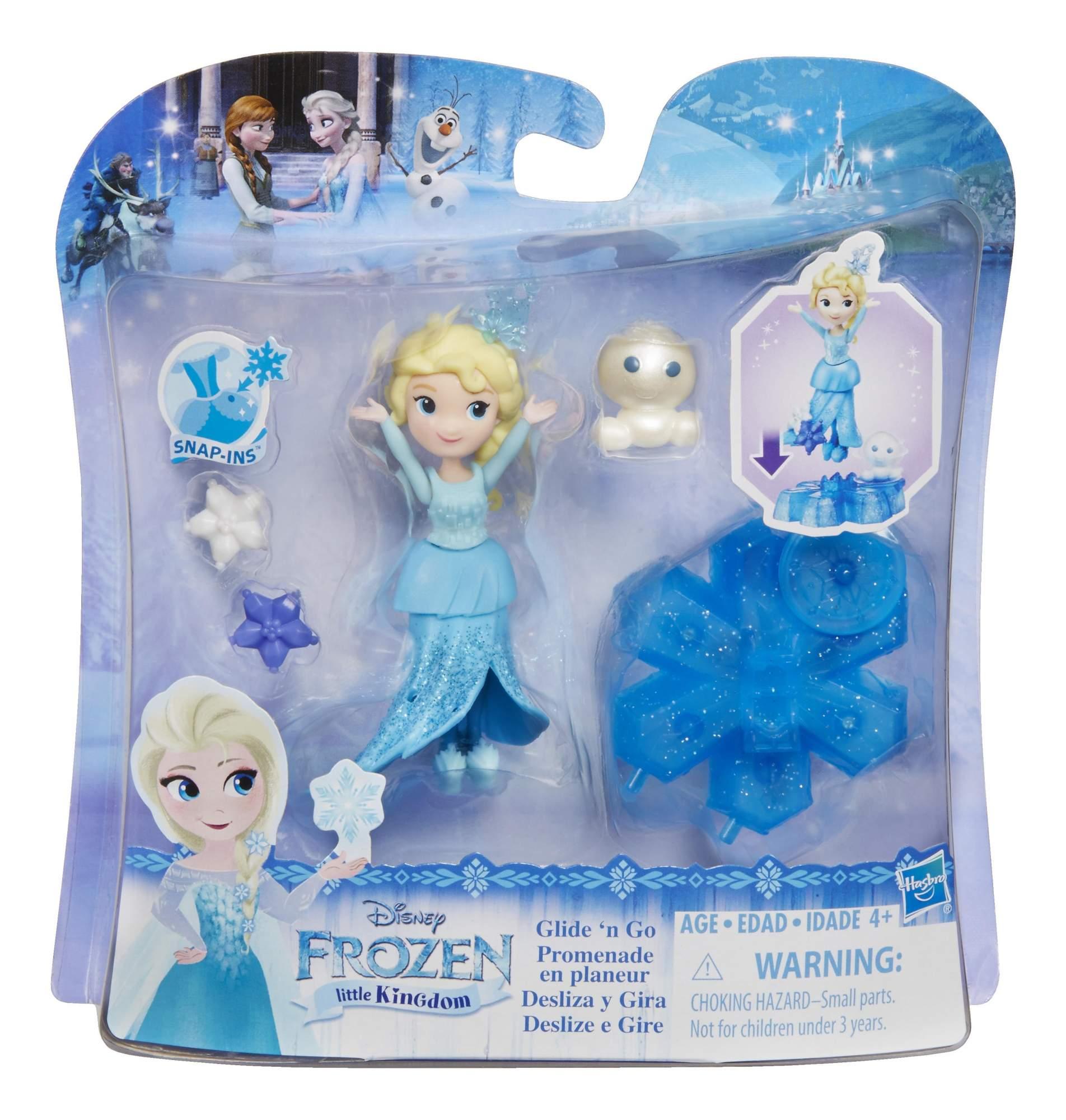 Маленькая кукла Disney на движущейся платформе-снежинке b9249 b9873