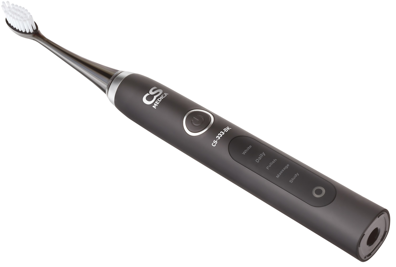 Зубная щетка CS Medica CS-333-BK электрическая звуковая черная