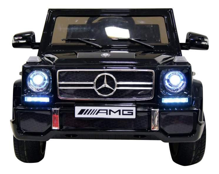 Электромобиль Mercedes-Benz черный глянец RIVERTOYS