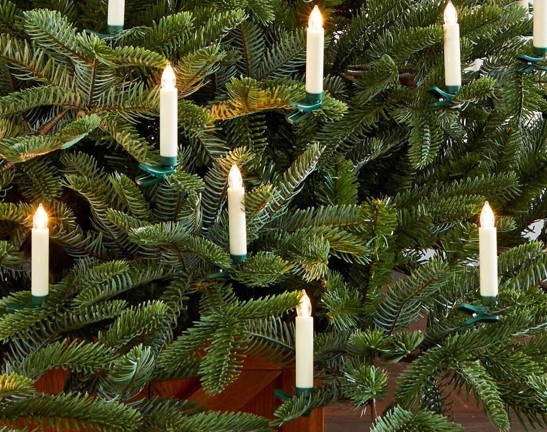 фото елка новогодняя со свечами некоторых