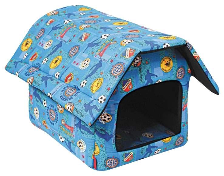 Домик для собак Гамма двускатная голубой