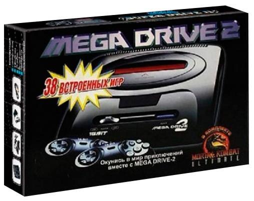 Игровая приставка Sega Mega Drive 2 + Mortal Kombat Ultimate + 38 игр