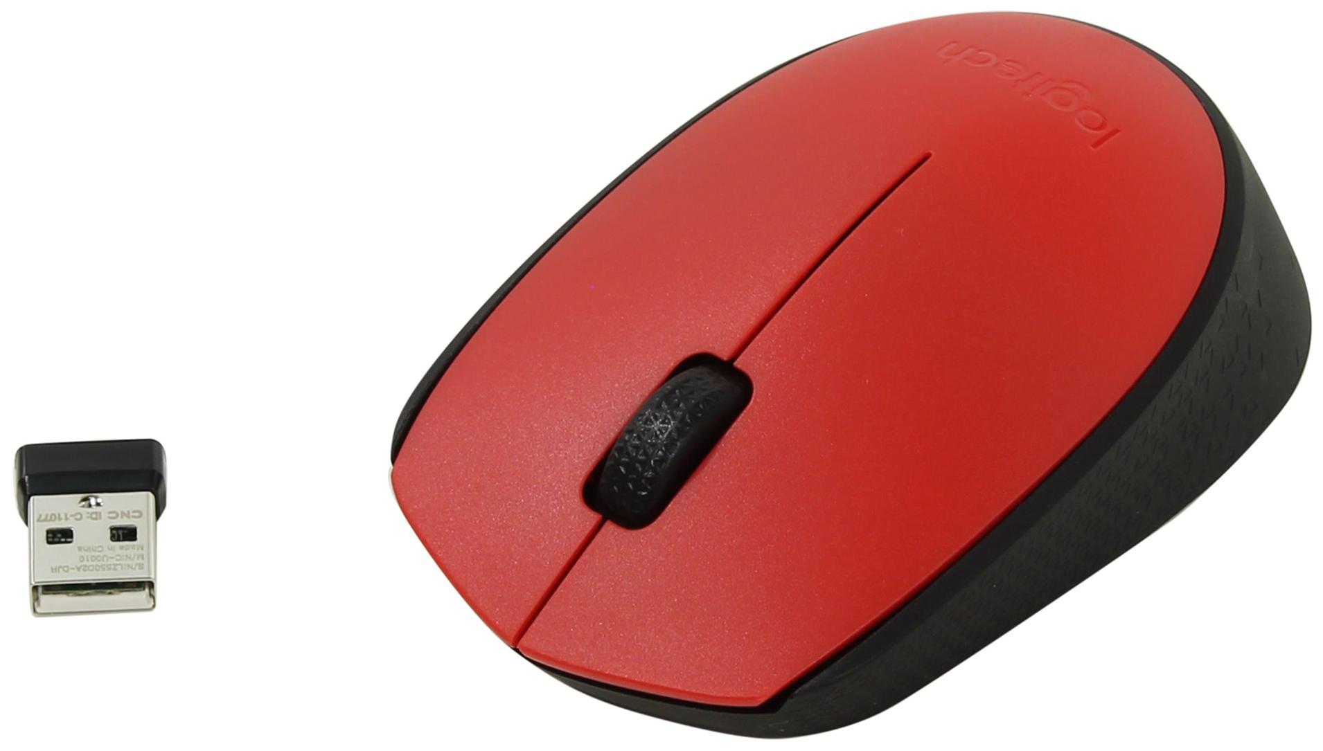 Беспроводная мышка Logitech M171 Red/Black (910-004641)