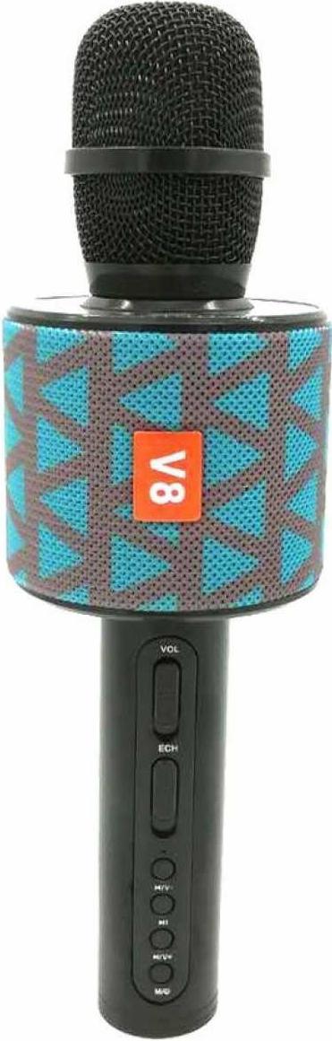 Беспроводной караоке-микрофон V8 Blue/Grey