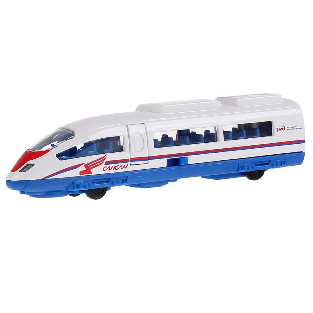 Поезд инерционный Технопарк Сапсан РЖД металлический 19 см