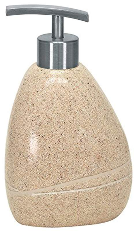 Емкость для жидкого мыла Kleine Wolke Stones Sand beige Бежевый